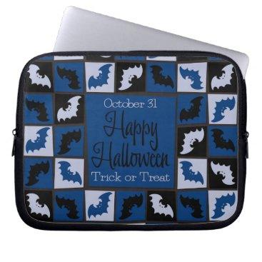 Halloween Themed Halloween bat mosaic computer sleeve