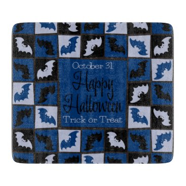 Halloween Themed Halloween bat mosaic cutting board