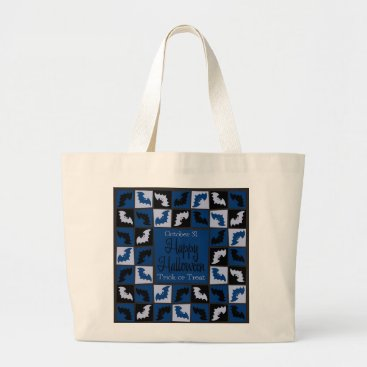 Halloween Themed Halloween bat mosaic large tote bag