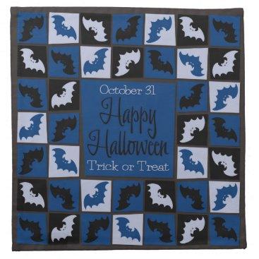 Halloween Themed Halloween bat mosaic napkin