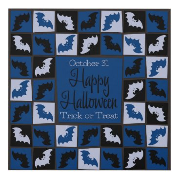 Halloween Themed Halloween bat mosaic panel wall art