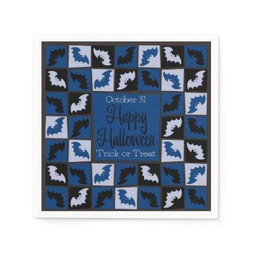 Halloween Themed Halloween bat mosaic paper napkin