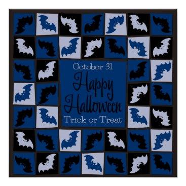 Halloween Themed Halloween bat mosaic poster