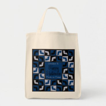 Halloween Themed Halloween bat mosaic tote bag