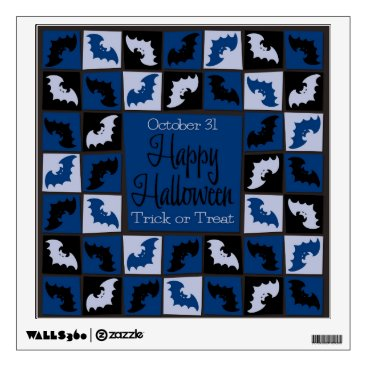 Halloween Themed Halloween bat mosaic wall decal