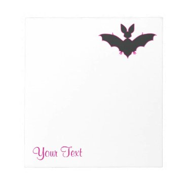 Halloween Themed Halloween Bat Notepad