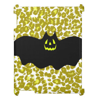 Halloween Bat On Golden Leopard Spots iPad Covers