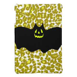 Halloween Bat On Golden Leopard Spots iPad Mini Cases