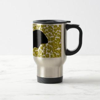 Halloween Bat On Golden Leopard Spots Travel Mug