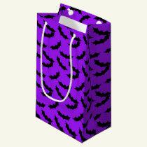 Halloween Bat pattern small gift bag