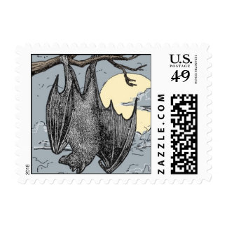 Halloween Bat Postage Stamps