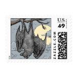 Halloween Bat Postage Stamps