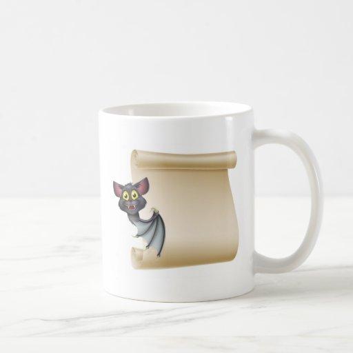 Halloween Bat Scroll Basic White Mug