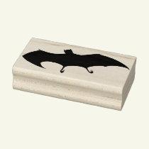 Halloween Bat Silhouette Rubber Art Stamp