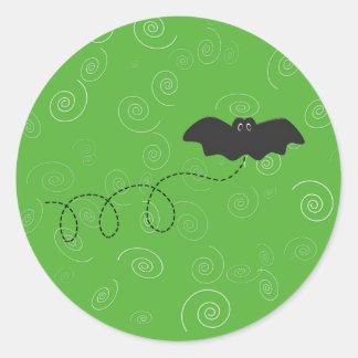 Halloween bat sticker