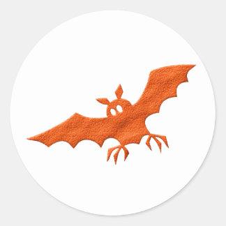 Halloween bat round sticker