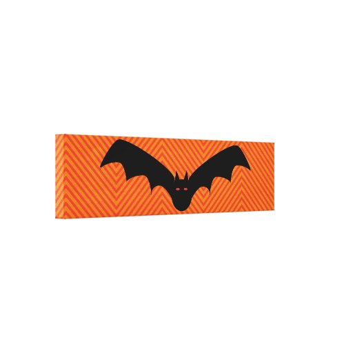 Halloween Bat Stretched Canvas Print