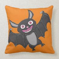 Halloween Bat Throw Pillows