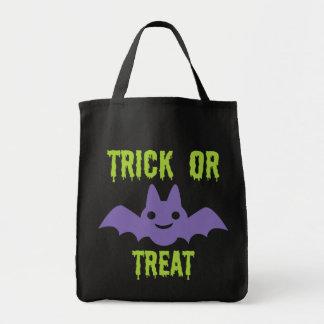 Halloween bat -trick or treat! tote bag