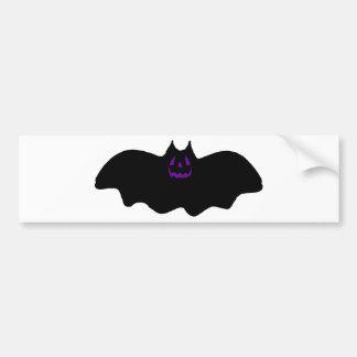 Halloween Bat w/Purple Face Bumper Sticker