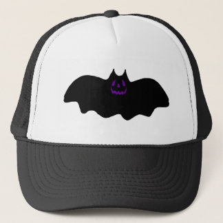 Halloween Bat w/Purple Face Trucker Hat