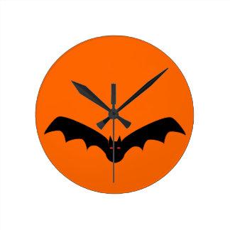 Halloween Bat Wall Clock