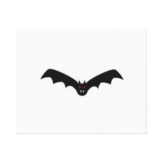 Halloween Bat with Fangs Stretched Canvas Prints