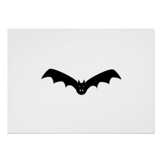 Halloween Bat with Fangs Poster