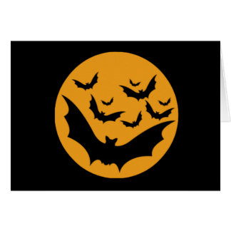 Halloween Bate Greeting Card