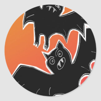 Halloween Bats 2 Classic Round Sticker