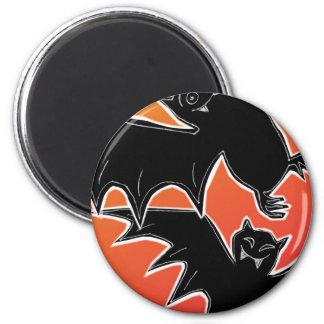Halloween Bats 2 Inch Round Magnet