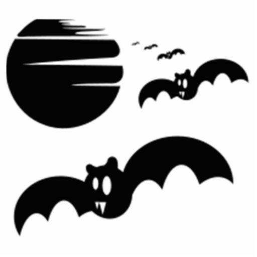 Halloween Bats and Moon Acrylic Cut Outs