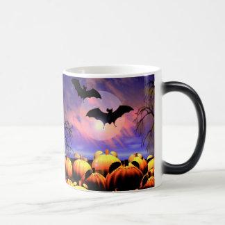 Halloween Bats and Pumpkins Scene Mug
