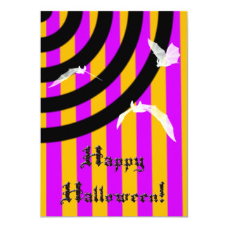 Halloween Bats and Stripes Goth Invitation