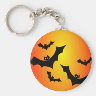 Halloween Bats at Twilight Keychain