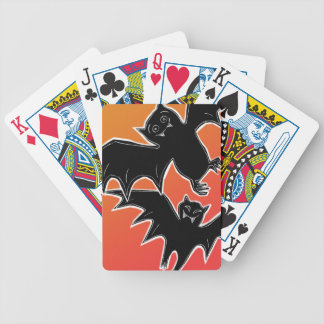 Halloween Bats Bicycle Playing Cards