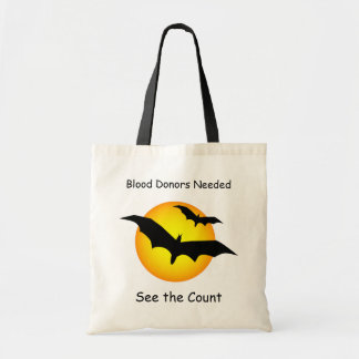 Halloween Bats Blood Donors Needed Budget Tote
