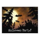 Halloween Bats, Castle and Moon 5.5x7.5 Paper Invitation Card