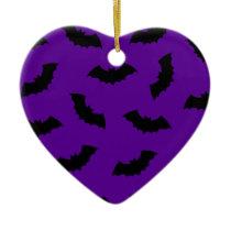 Halloween Bats Ceramic Ornament