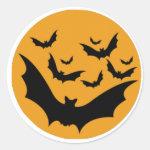 Halloween Bats Classic Round Sticker