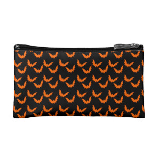 Halloween Bats Cosmetic Bag for Girls