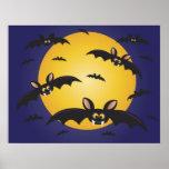 Halloween Bats Flying Poster