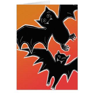 Halloween Bats Greeting Card