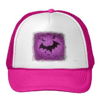 Halloween Bats Hat Pink