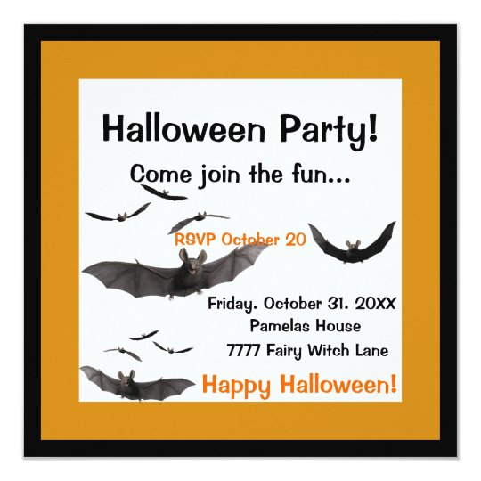 Halloween Bats Invitation
