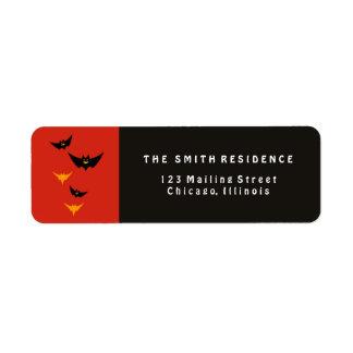 Halloween Bats Label