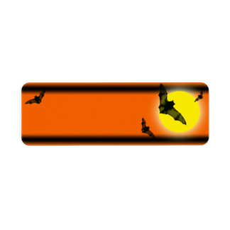 halloween bats return address label