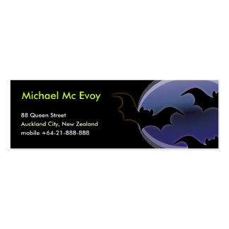 Halloween Bats Mini Business Card