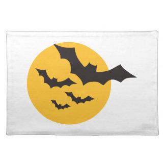 Halloween Bats moon Placemats