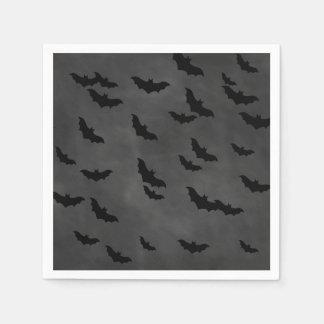 Halloween Bats on Chalkboard Napkin Paper Napkin